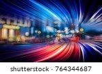 abstract speed motion blur  | Shutterstock . vector #764344687