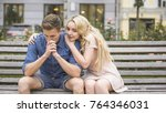 young man upset about problems  ... | Shutterstock . vector #764346031