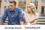 jealous girl having fight with... | Shutterstock . vector #764346049