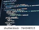 software developer programming... | Shutterstock . vector #764348515