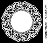 lace round paper doily  lacy...   Shutterstock .eps vector #764355094