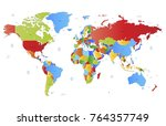 color world map vector | Shutterstock .eps vector #764357749
