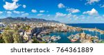 panoramic aerial view of... | Shutterstock . vector #764361889