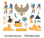 ancient egypt collection   gods ... | Shutterstock .eps vector #764366164
