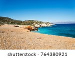 the sea and the mountains of... | Shutterstock . vector #764380921