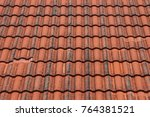 Pattern Of The Old Tiles Roof...