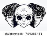 portriat of the extraordinary...   Shutterstock .eps vector #764388451