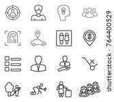 thin line icon set   target... | Shutterstock .eps vector #764400529