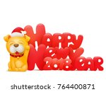2018 happy new year greeting...   Shutterstock .eps vector #764400871