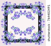 scarf floral print. russian...   Shutterstock .eps vector #764402491