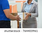 cropped image of business lady... | Shutterstock . vector #764403961