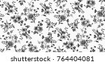 seamless floral pattern in... | Shutterstock .eps vector #764404081