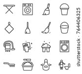 thin line icon set   iron board ... | Shutterstock .eps vector #764406325