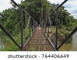 bridge over the river narrow... | Shutterstock . vector #764406649