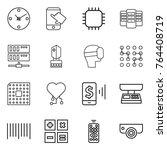 thin line icon set   clock ... | Shutterstock .eps vector #764408719