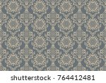 seamless decorative ornament on ... | Shutterstock .eps vector #764412481