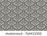 seamless decorative ornament on ... | Shutterstock .eps vector #764412505
