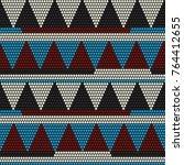 african bead motifs. abstract... | Shutterstock .eps vector #764412655