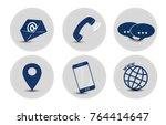 contact icon set | Shutterstock .eps vector #764414647