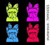 french bulldog. vector... | Shutterstock .eps vector #764416321