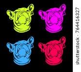 french bulldog. vector... | Shutterstock .eps vector #764416327