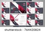 desk calendar 2018 template  ... | Shutterstock .eps vector #764420824