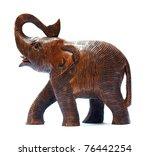 Antique Wooden Elephant...