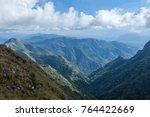 beautiful tropical rain forest... | Shutterstock . vector #764422669