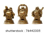 buddha isolated over a white... | Shutterstock . vector #76442335
