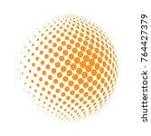 abstract globe dotted sphere ... | Shutterstock .eps vector #764427379