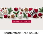 christmas decorative border... | Shutterstock .eps vector #764428387