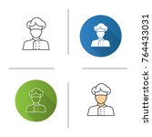 chef cook icon. flat design ...   Shutterstock .eps vector #764433031