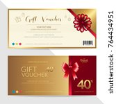 gift certificate  voucher  gift ... | Shutterstock .eps vector #764434951