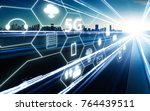 5g network wireless systems and ... | Shutterstock . vector #764439511