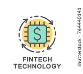 icon fintech technology. the... | Shutterstock .eps vector #764440141