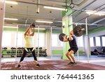 sport  fitness  weightlifting ... | Shutterstock . vector #764441365