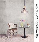 interior living minimal space... | Shutterstock . vector #764442439