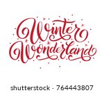 hand lettering winter... | Shutterstock .eps vector #764443807