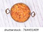 menemen table top view | Shutterstock . vector #764451409