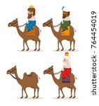 the three magic kings of orient ... | Shutterstock .eps vector #764454019