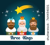 the three magic kings of orient ... | Shutterstock .eps vector #764454031