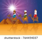 the three magic kings of orient ...   Shutterstock .eps vector #764454037