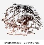 beautiful hand drawn artwork of ... | Shutterstock .eps vector #764459701