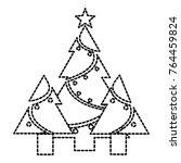 isolated pine tree design | Shutterstock .eps vector #764459824