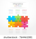 infographic design elements for ... | Shutterstock .eps vector #764461081