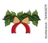christmas flower design | Shutterstock .eps vector #764463079
