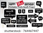 set of funny eighteenth... | Shutterstock .eps vector #764467447
