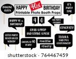 set of funny fortieth birthday... | Shutterstock .eps vector #764467459