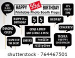 set of funny fifty five... | Shutterstock .eps vector #764467501
