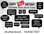 set of funny fiftieth birthday... | Shutterstock .eps vector #764467507